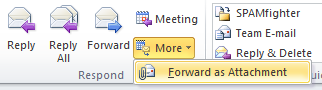 Microsoft Outlook Forward as Attachment