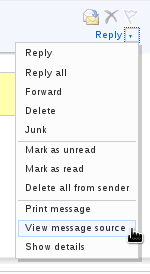 Windows Live Mail - View Message Source